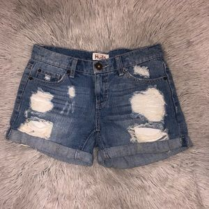 Ripped Jean Shorts from the Brand named Mudd.